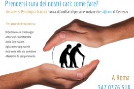 Sportello gratuito per caregiver di pazienti affetti da demenza (A Roma)
