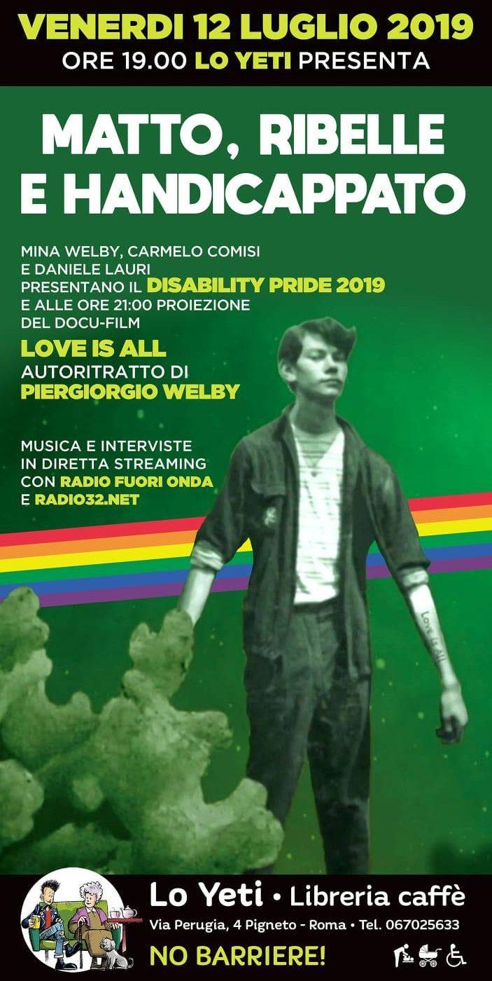 Aspettando il Disability Pride, Love is All - Radio32
